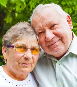 Happy senior couple in love posing in the park outdoor in New Jersey Counties of Bergen, Passaic, Morris and Hudson
